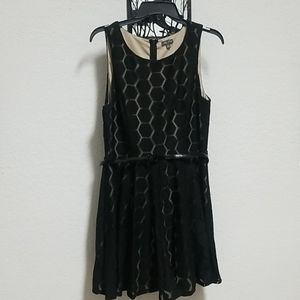 Lily Rose Jr.Black Party dress with beige lining